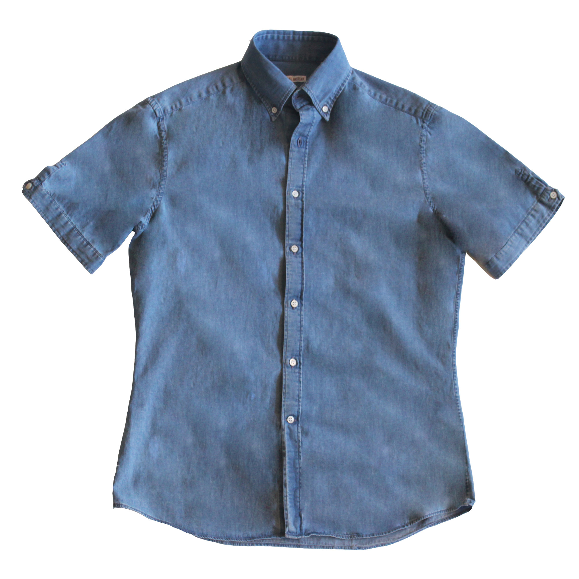 Michael Bastian Denim Short Sleeve Sleeve Button shirt