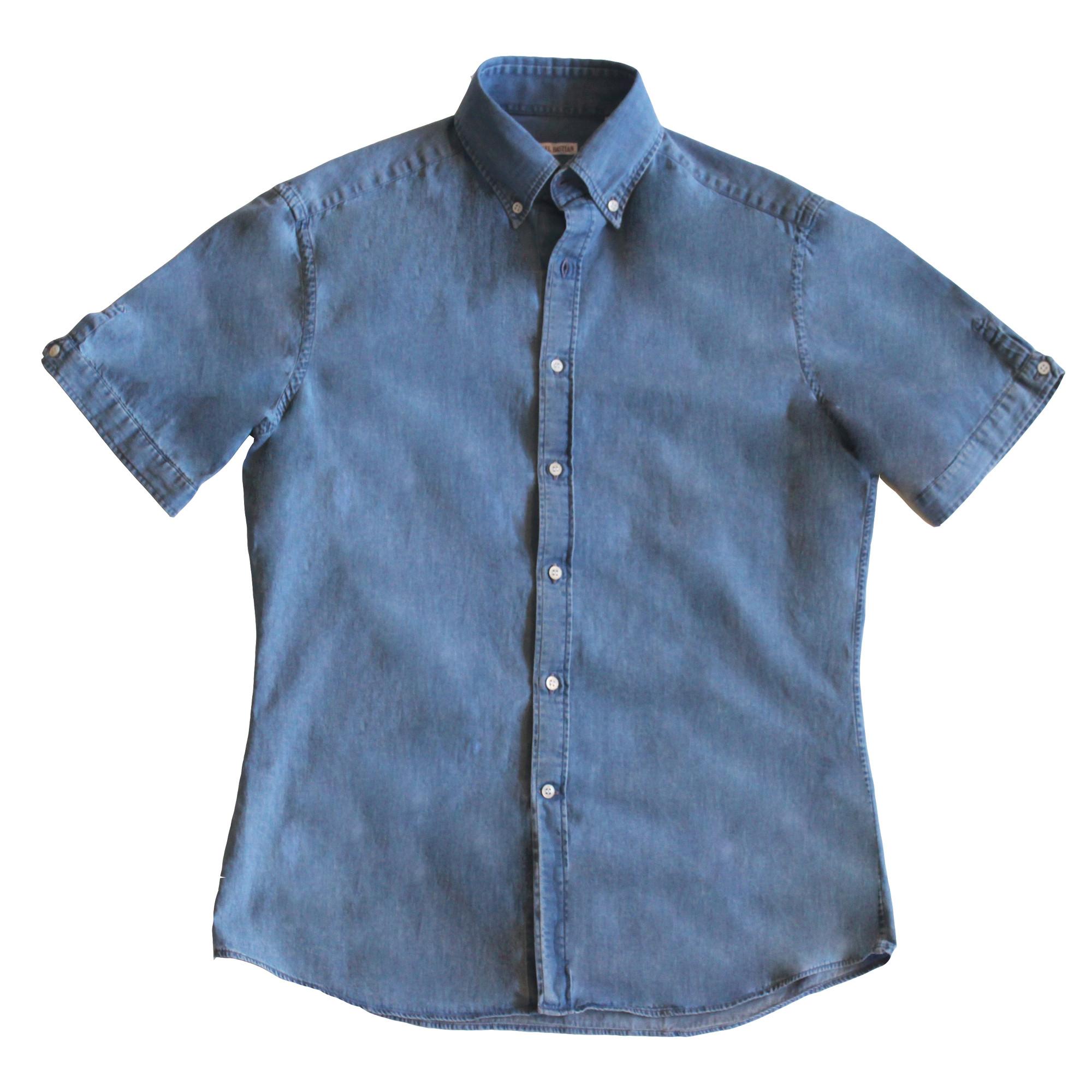 Michael Bastian Denim Short Sleeve Sleeve Button shirt