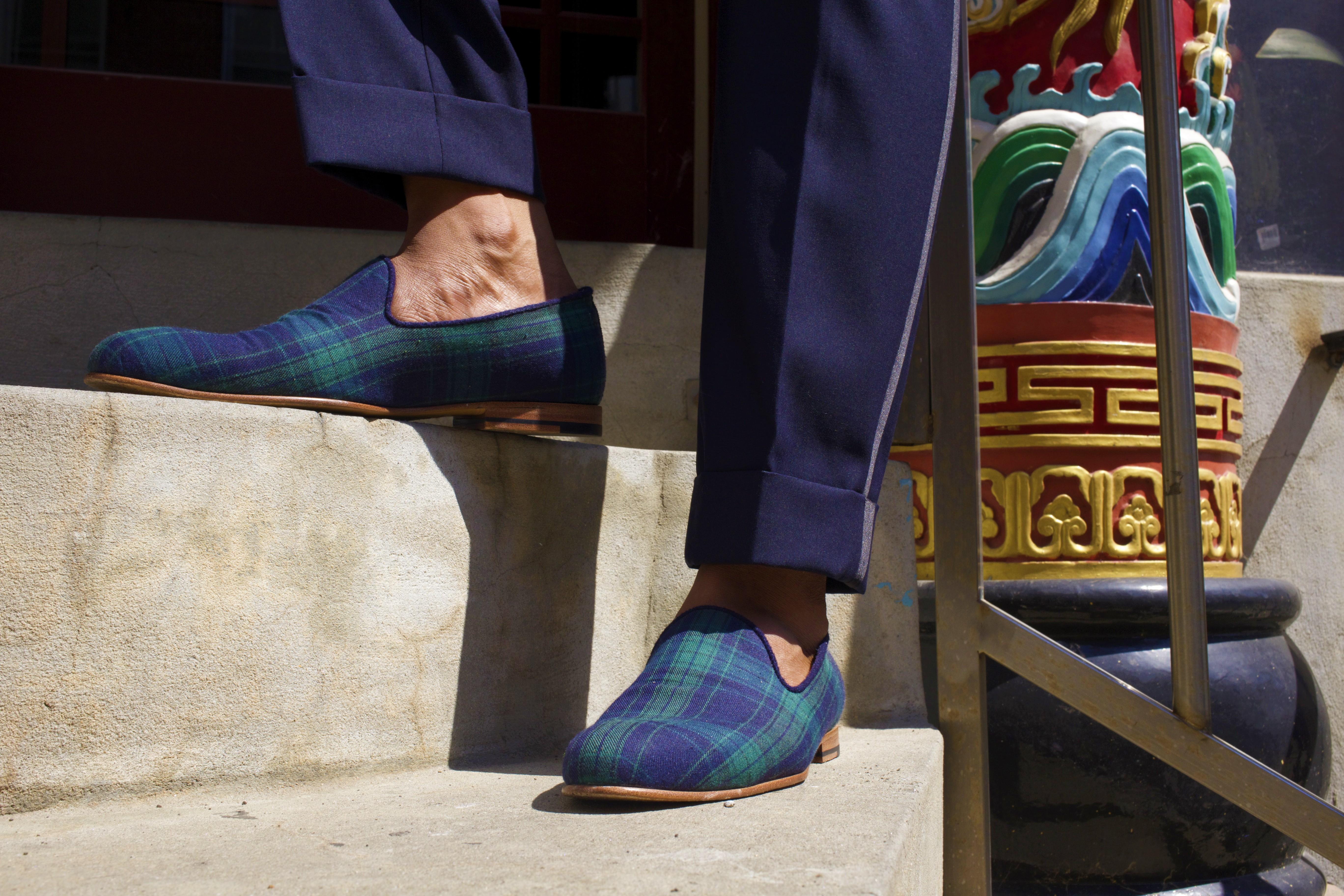 Sabir M. Peele of Men's Style Pro wearing The Napa Slipper 7