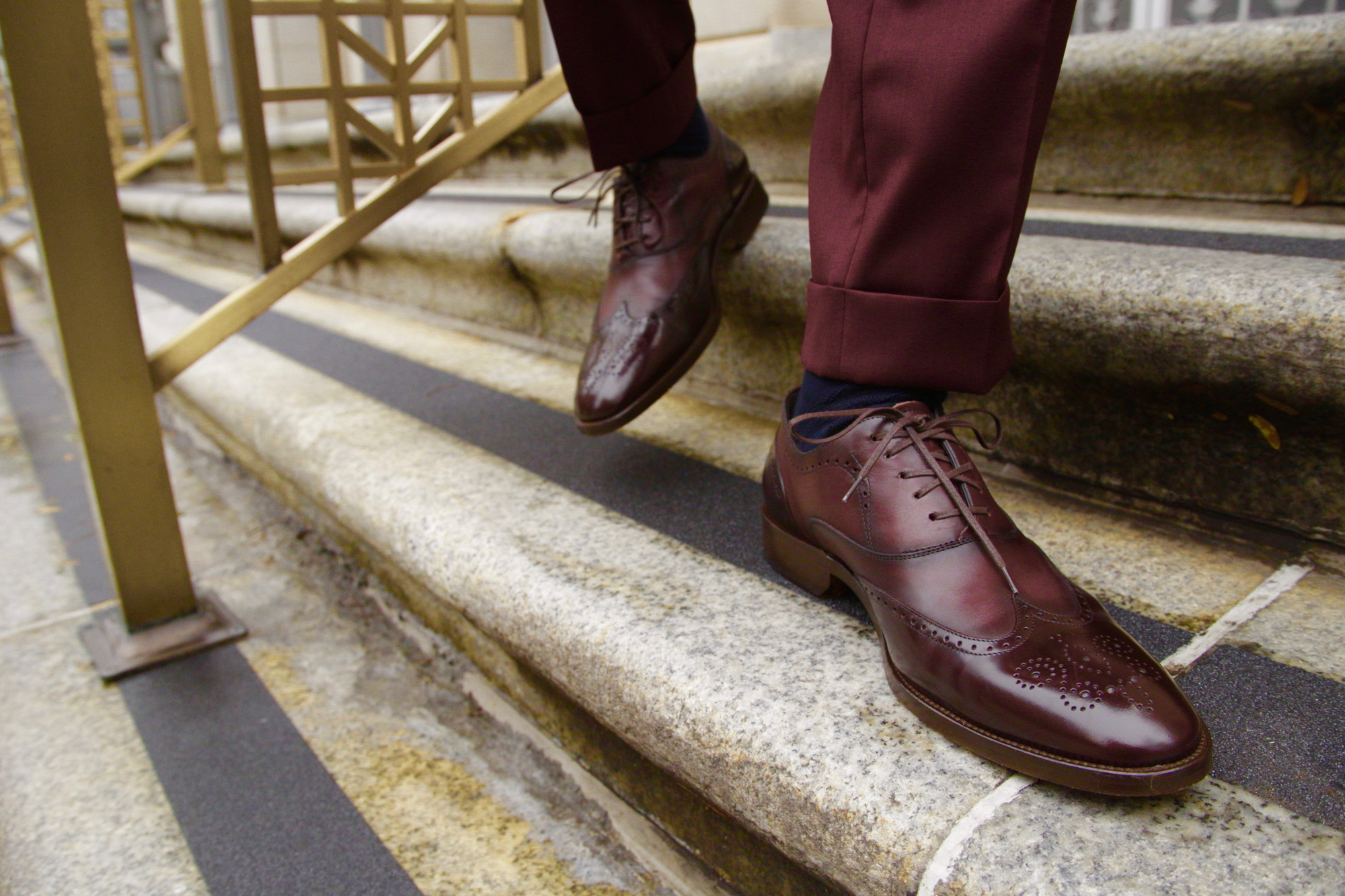 Johnston & Murphy Oxblood Oxfords
