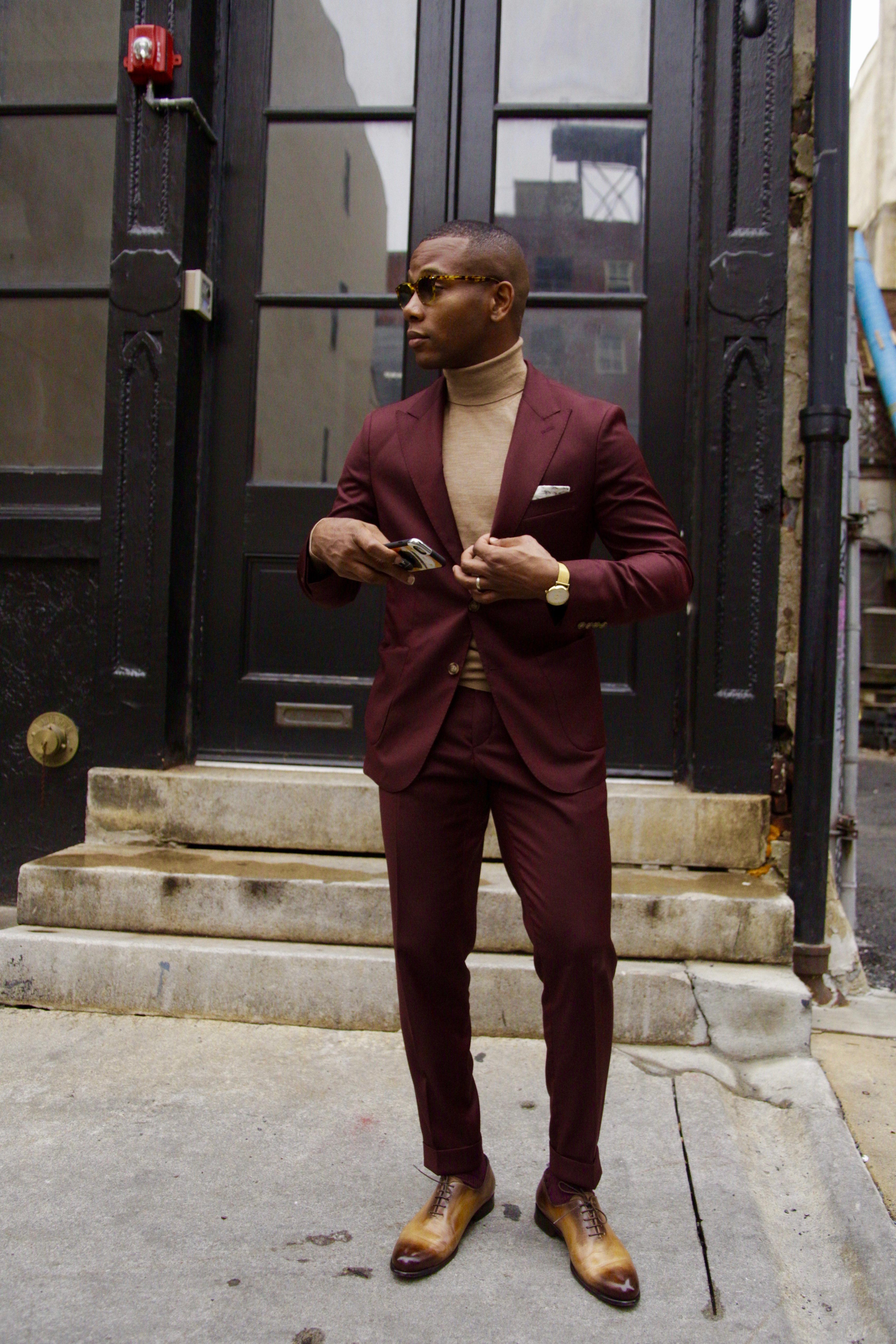 Not Your Basic Burgundy Suit 3 Ways Men S Style Pro