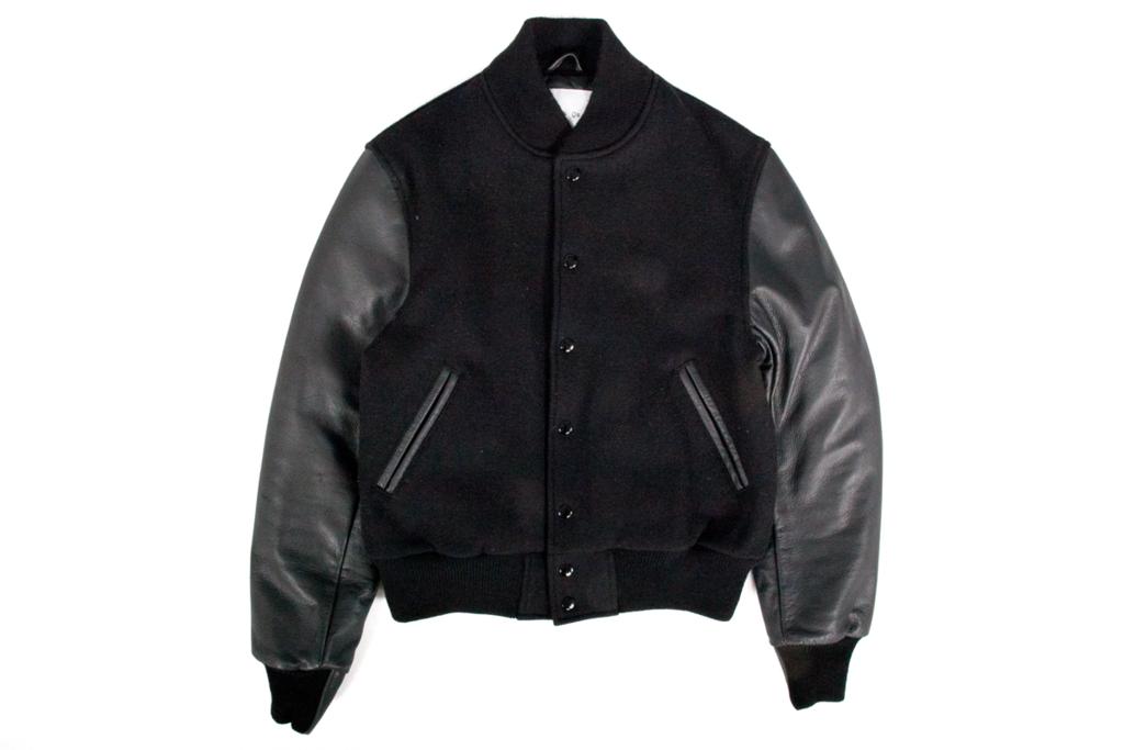 P's & Q's All Black Varsity Jacket