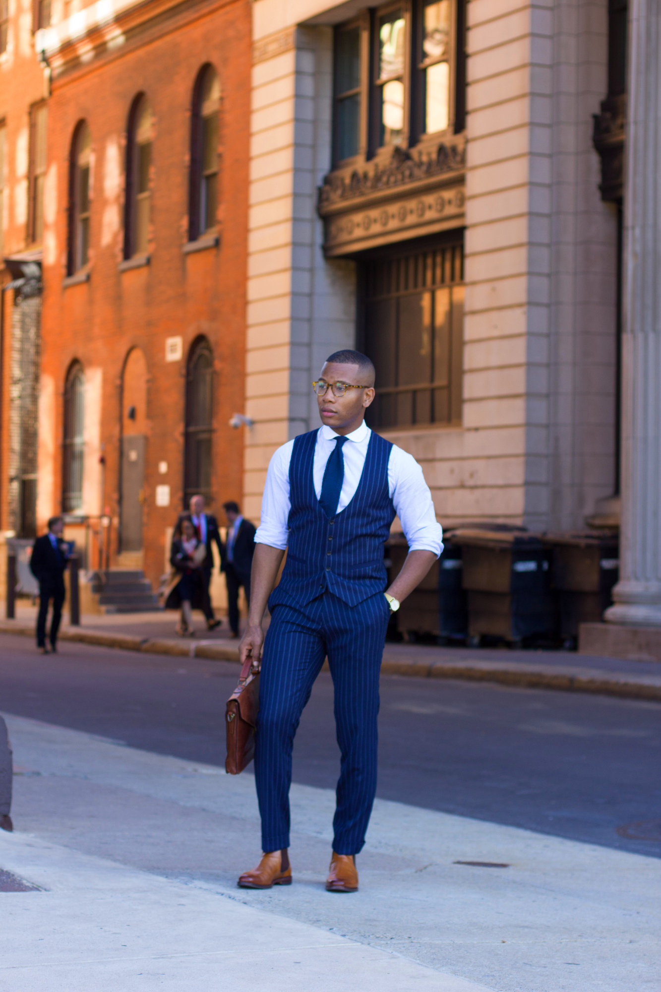 Sabir M. Peele of Men's Style Pro wearing Allen Edmonds Chelsea Boots