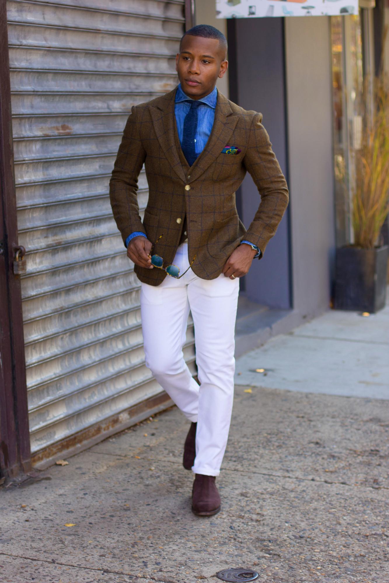 Sabir M. Peele of Men's Style Pro wearing Allen Edmonds Chelsea Boots