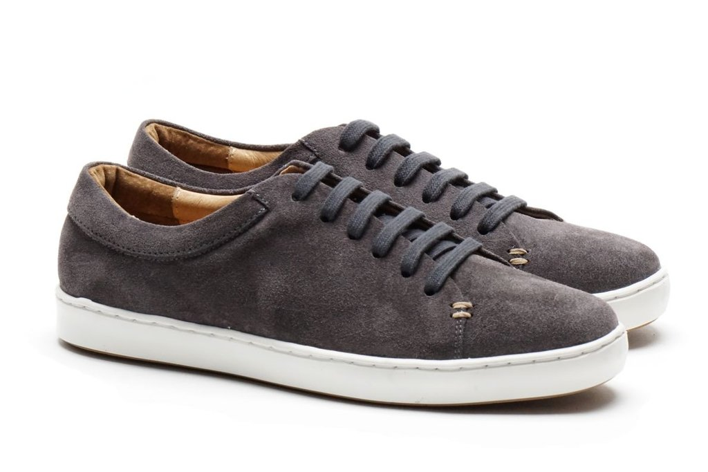 Just A Men Shoe Grey Suede Sneaker