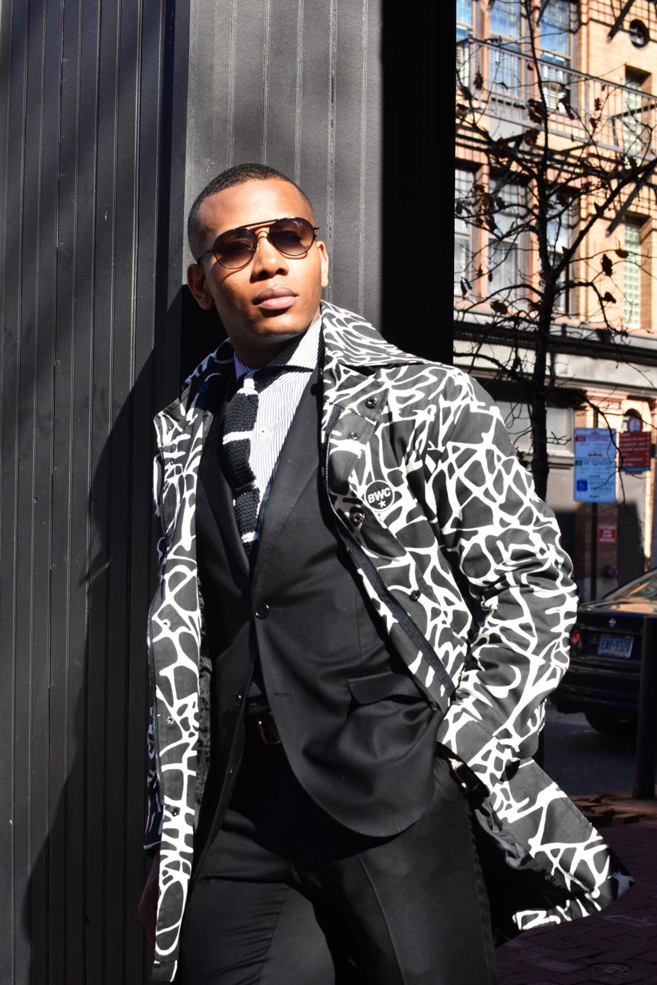 Sabir of Men's Style Pro in BWC Garments Black & White Jacket Bold Outerwear