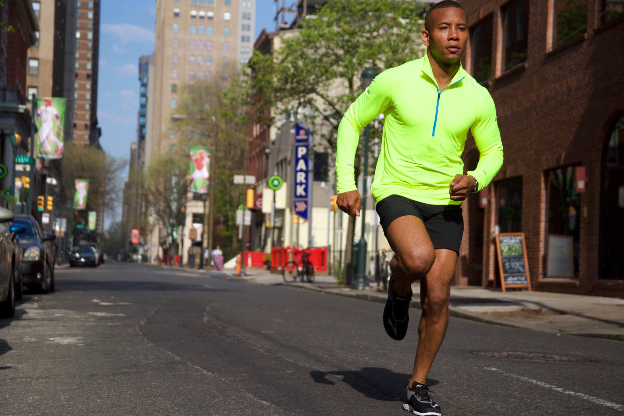 Sabir M. Peele of Men's Style Pro for Zappos & Brooks Running