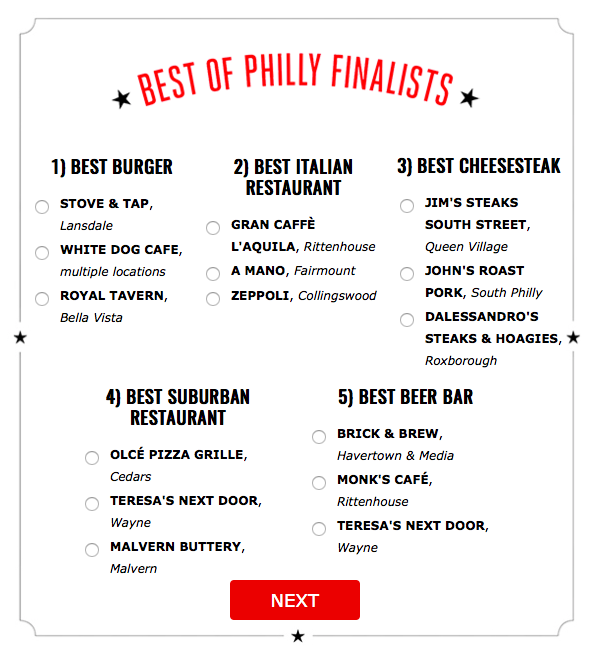 Best of Philly Finalists and Best of Philly Soiree