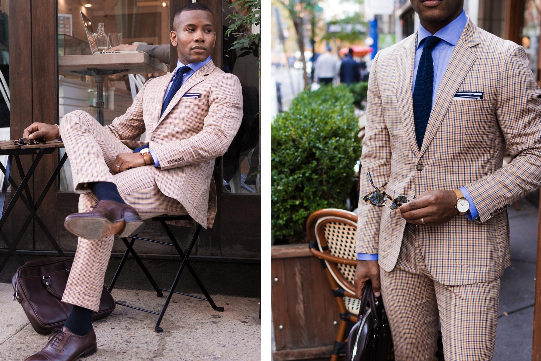 Lido Tattersal Suit Men's Style Pro x ModaMatters 9
