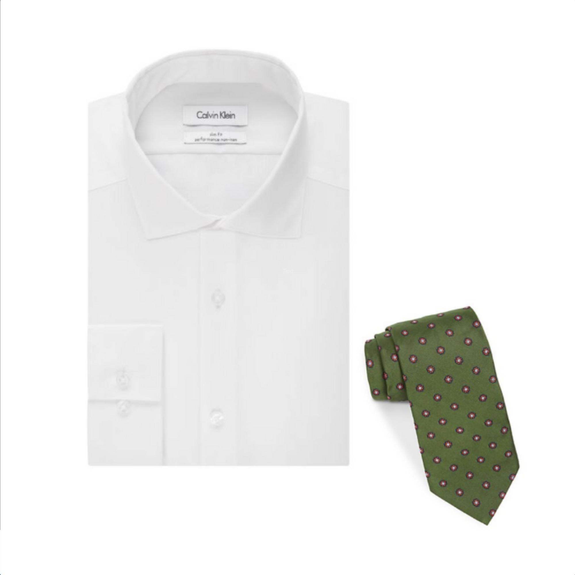 Calvin Klein Shirt + Brooks Brothers Tie