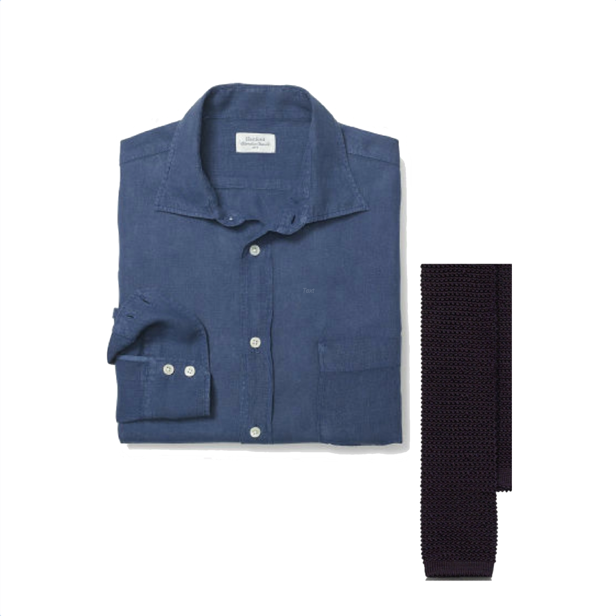 Club Monaco Shirt & Ralph Knit Tie