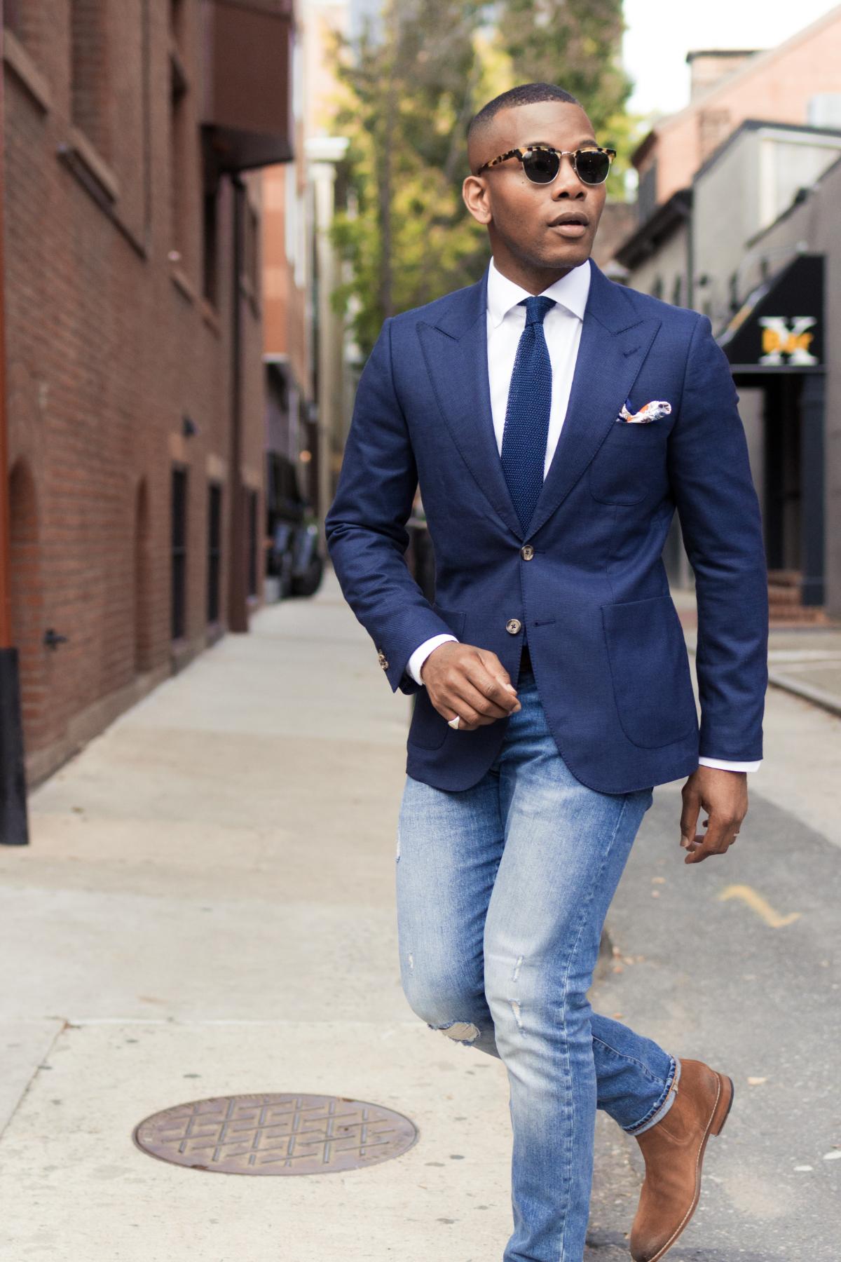 Men's Style Pro x Lucca Navy Blazer 5