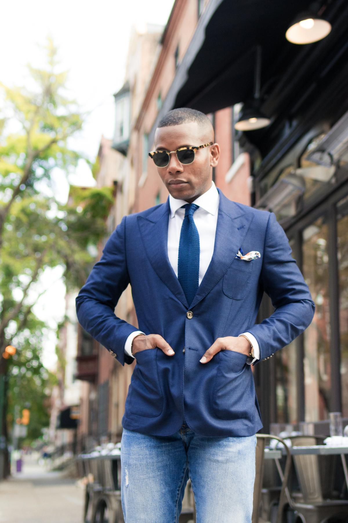 Men's Style Pro x Lucca Navy Blazer