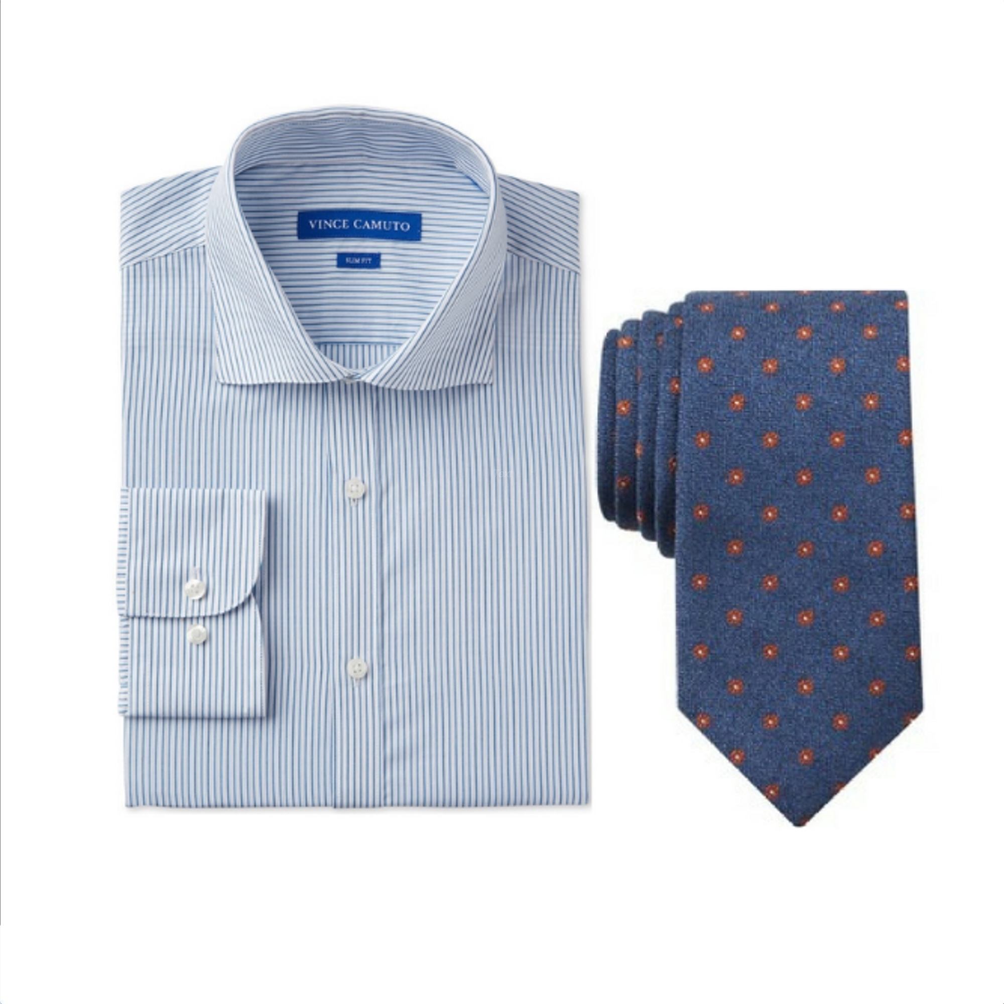Vince Camuto Shirt + Brooks Brothers Tie