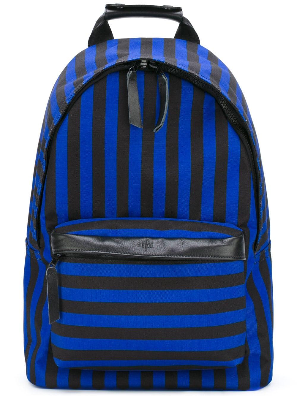 AMI Paris Striped Backpack Farfetch Sale