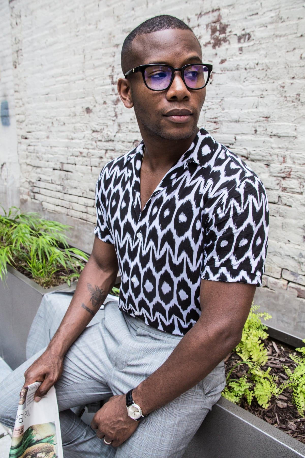 Sabir M. Peele of Men's Style Pro blog In Aloha Shirt