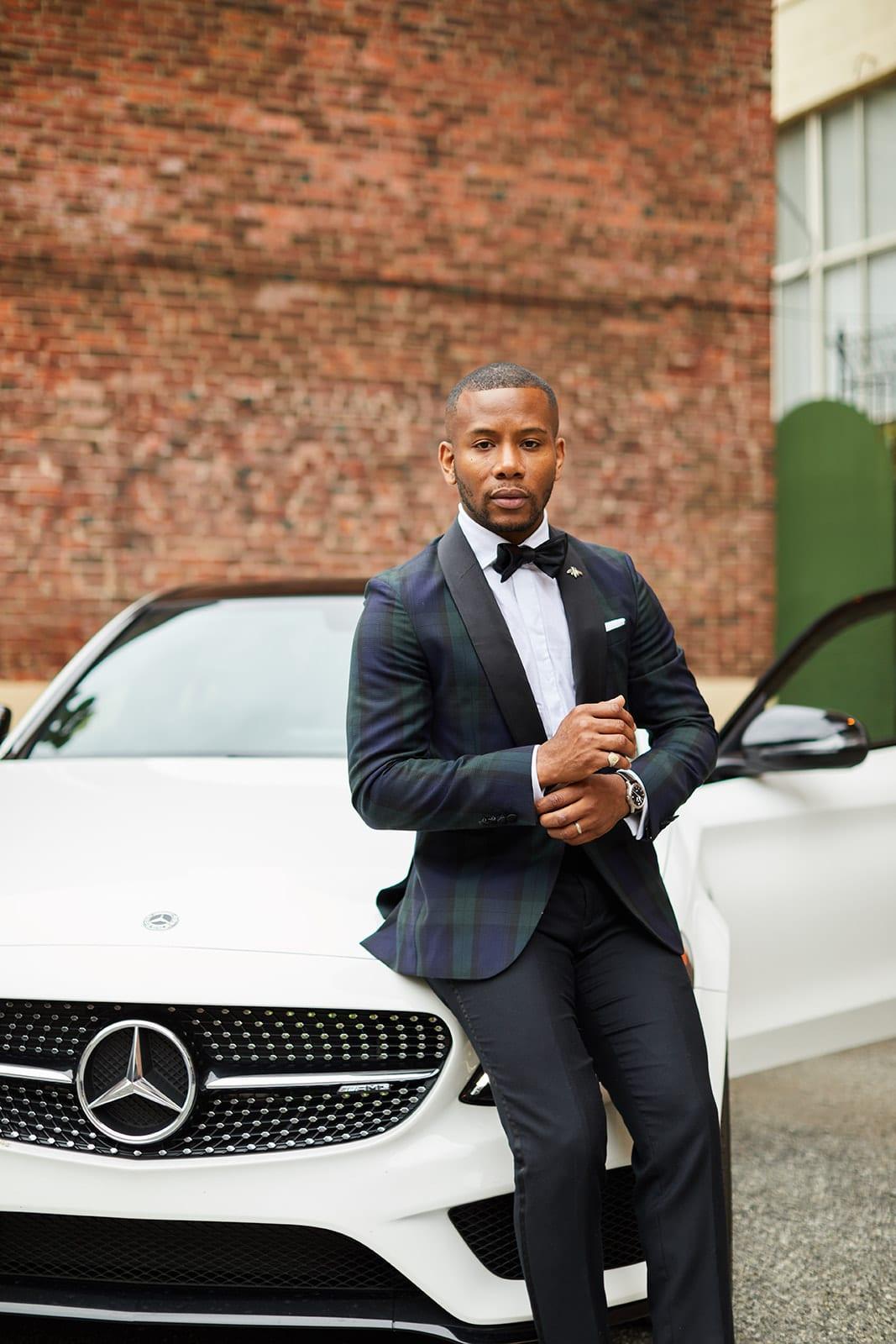 Sabir M. Peele of Men's Style Pro Review Mercedes Benz Collection