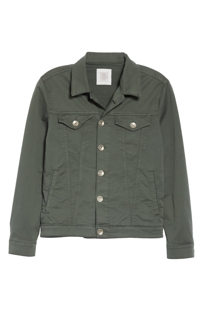 Eleventy Green Trucker Jacket