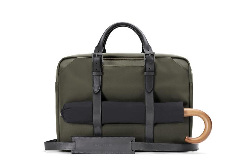 Stuart & Lau Olive Green Briefcase