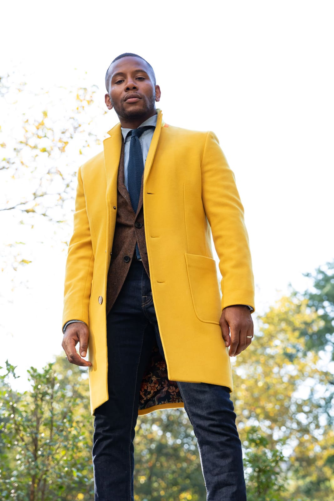 tallia yellow overcoat