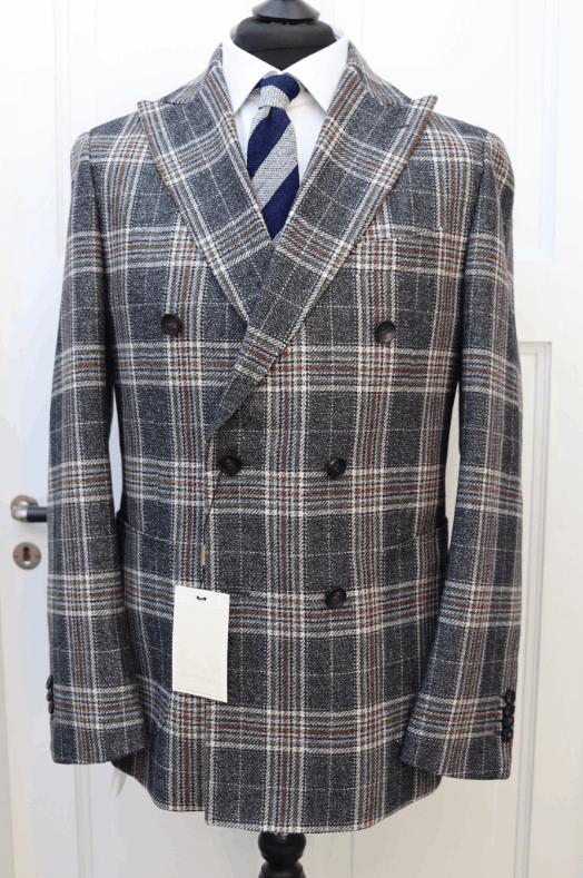 Plaid Wool Havana DB Suit