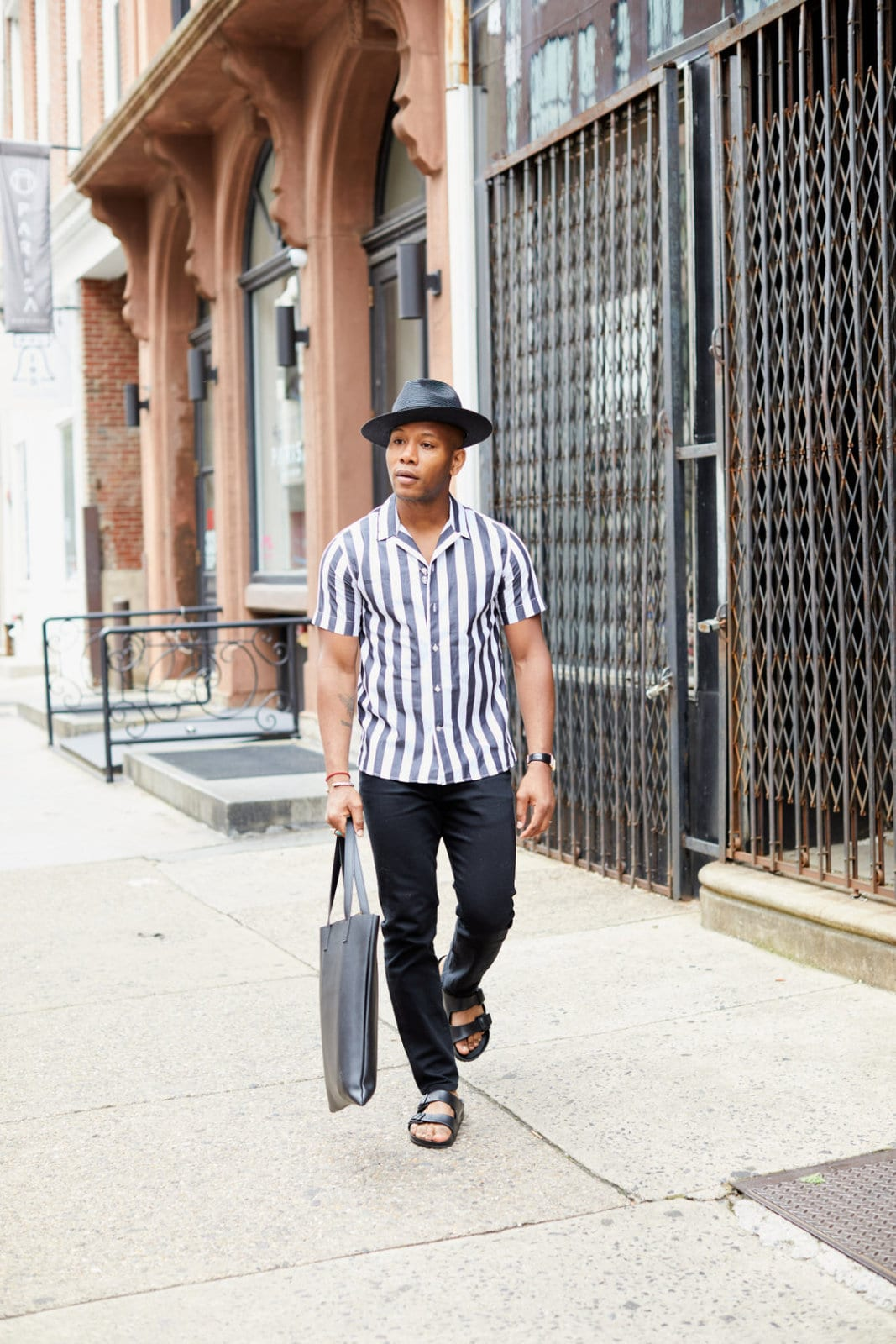 Men's Style Pro wearing Birkenstock Sandals