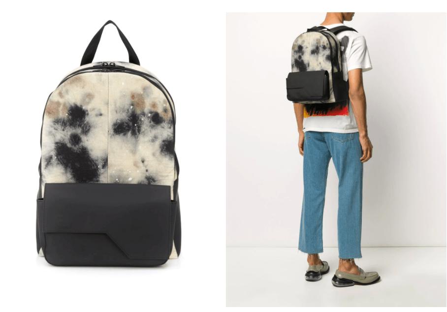 Diesel Red Tag Tie Dye Backpack