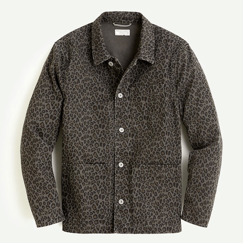 J.Crew x Wallace and Barnes Chore Shirt in Olive