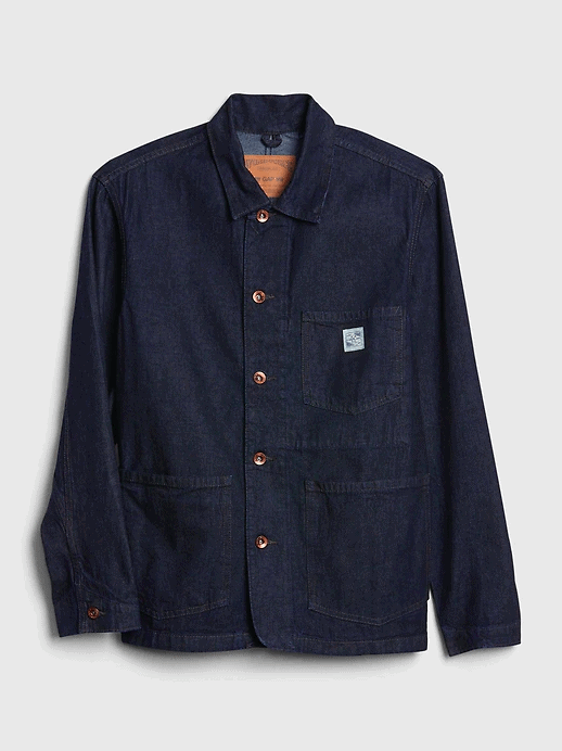 gap denim chore shacket