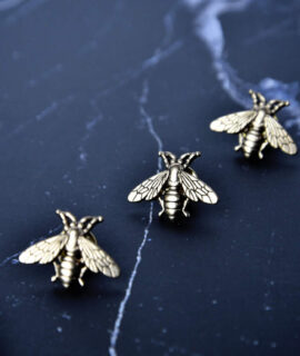 Brass Bee Pin MSP Store