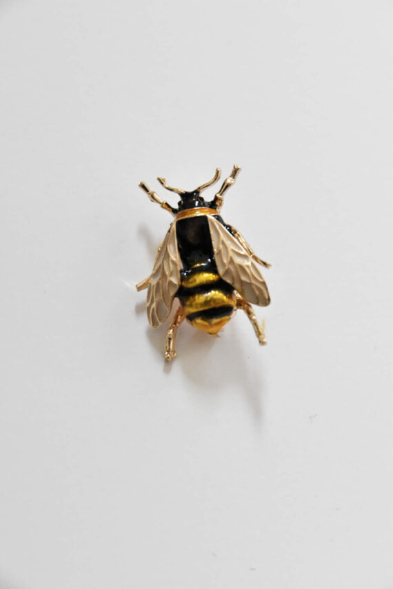 Enamel Alloy Bee Brooch