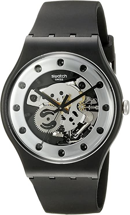 Silver Glam Analog Swatch Watch
