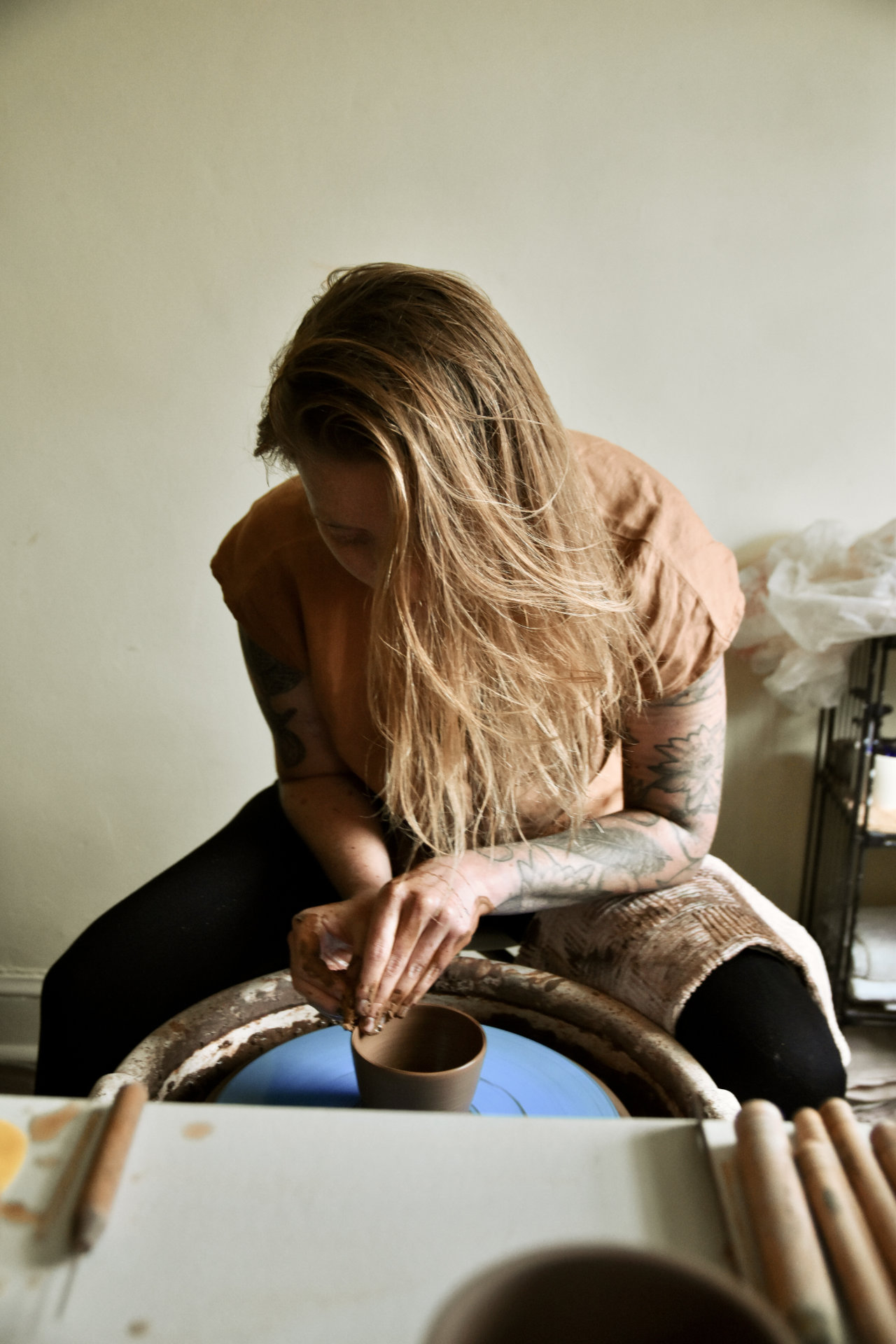 Emily Riddell Throwing Clay