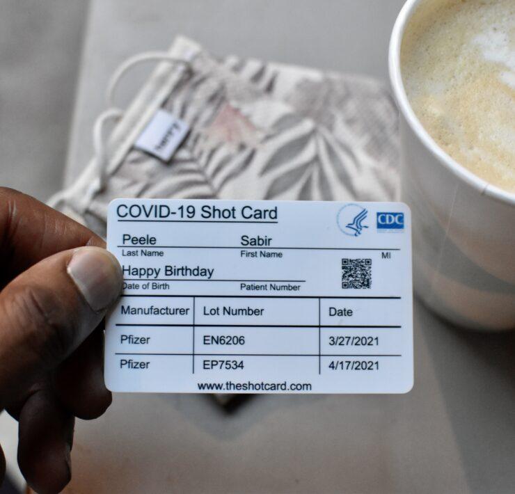 The Shot Card Vaccine Card